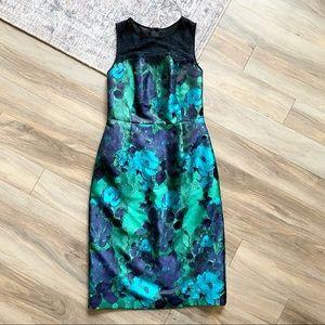 Anthro Leifsdottir Sheath Water Garden Dress Lace
